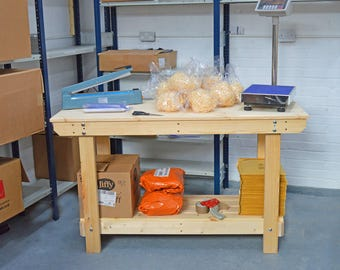 4.5FT Wooden Workbench    Handmade   VERY STRONG & STURDY   Next Day Delivery   Top Quality!
