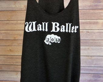Fitted Tank - Wall Baller (20lb) - Crossfit - Crossfit Tank - Funny Workout Tank - Crossfit Gift - Crossfit Tank Top - Workout Tank Top