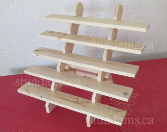 """5-Shelf 24"""" Collapsible riser portable display stand store countertop display craft show display shelf trade show"""