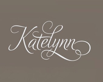 Swirly Custom Name Decal, Baby Wall Decals, Personalized Name Decal, Baby Girl Nursery, Nursery Wall Decal