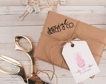Pineapple Wedding Favors | Letterpress Foil Gift Tag | Bride Groom Gift Tags | Party Favor Gift Tags | social graces and co.