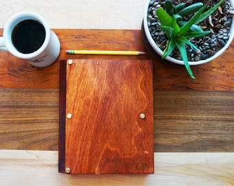 Wooden Notebook - fits any composition notebook - Made in USA - Free Shipping to US