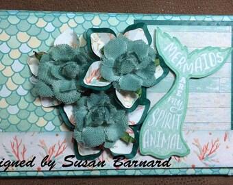 Authentique Sea-Maiden, Ocean, Mermaid, Under the Sea Tri-Fold Wallet Album