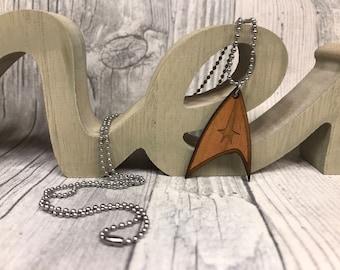 Kette Star Trek Holz