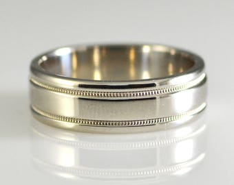 Heavy Platinum Band 7mm Wide Size 11