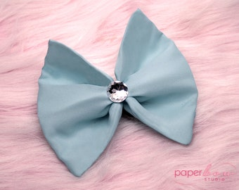Baby Blue Fabric Bow