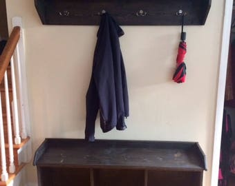 Custom Cubby Storage Coat Rack