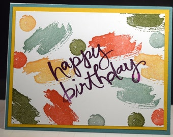 Happy Birthday card(B-0010), Colorful Generic card, Happy Birthday