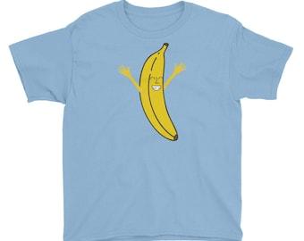 Yay Happy Banana Kids Youth Short Sleeve T-Shirt