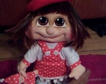 Handmade doll ~ Cotton Knit Doll ~ Interior doll ~ Rag doll ~ Soft Doll