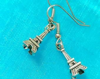 Eiffel Tower, Paris Romance, Paris Style, Vintage Style Earrings, Eiffel Tower Charms, Meet Me in Paris