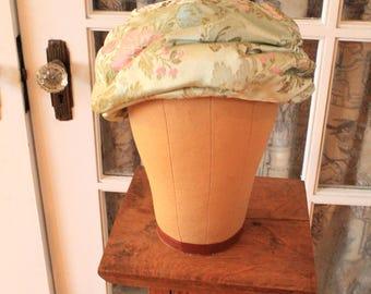 Vintage Pale Green Floral Dior Turban Hat