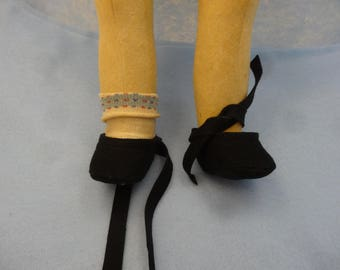 Felt Shoes (New) Made from Wool Felt Using Lenci Official Pattern