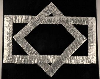 Kaku Squares Art in Silver, 12x12