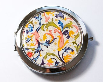 Venetian mirror, Pocket mirror, compact mirror, venetian compact mirror, mirror, venetian design, abstract design (2742)