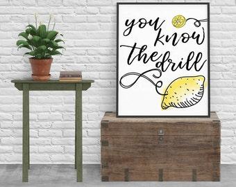 make lemonade print, printable, DIY decor