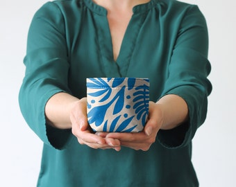 Fabric Buckets - Tropical Cobalt (more sizes)