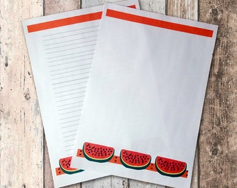 Delicious watermelon  printable stationery writing set - Digital file. Instant download.