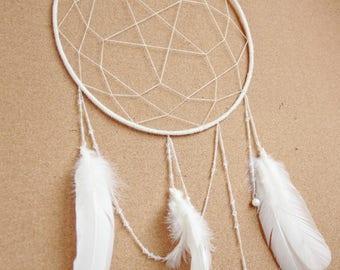 White magic dream catcher, pentagram dreamcatcher