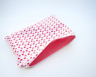 Zipper Pouch Make Up Bag Cosmetic Bag Zipper Bag Purse Organization Valentine's Day Gift Bridal Gift Bridesmaid Gift Pencil Pouch Travel