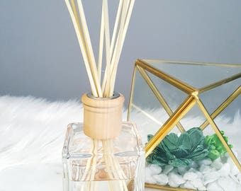 Reed Diffuser- Essential Oil Blend - White Natural Reeds - 5 ounces - Gift - Home Decor