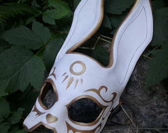 Leather BioShock Splicer Rabbit Mask - before the incident