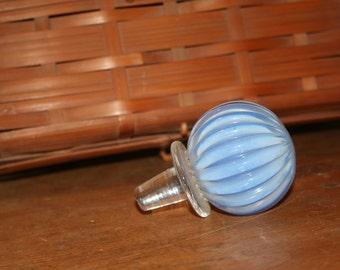 Ribbed Blue Stopper