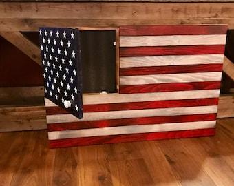 Large Rustic American Flag ...