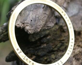 Custom Bangle Bracelet | Personalized Name Bracelet | Hand Stamped Mommy Jewelry | Eriadesigns