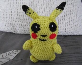 Amigurumi Patterns Pikachu : Pikachu crochet hat pdf pattern pokemon go pattern pokemon