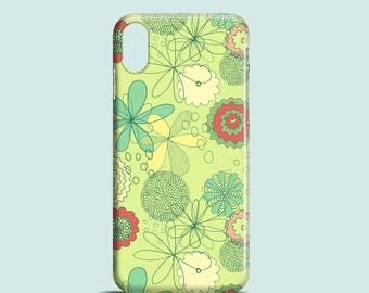 Spring Flowers phone case, floral iPhone X, iPhone 8, iPhone 7, iPhone 7 Plus, iPhone SE, iPhone 6/6S, iPhone 5/5S, floral phone cover