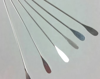 50 silver plated brass 2 inch, 22 gauge paddle headpins