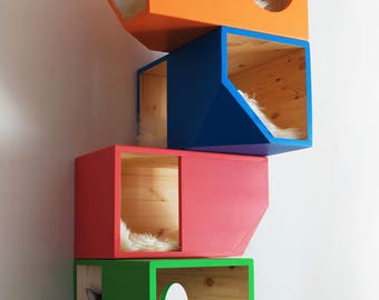 Colorful Catissa, Modular Cat House