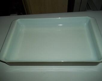 """Pyrex 933 Baking Dish Verde 13 1/2 X 8 3/4 X 1 3/4""""Baking Pan"""