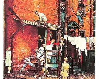 The Homecoming - Vintage1978 Norman Rockwell Print - 9 x 11