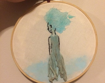 Nymph Embroidery Hoop
