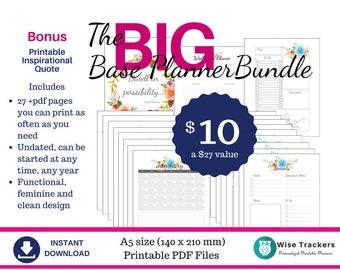 A5 BIG Base Planner Bundle  Agenda Journal Calendar