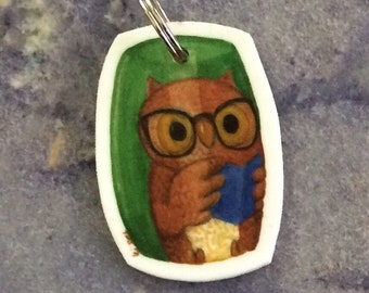 Owl Bead art charm for backpack, phone, necklace, keychain, zipper....