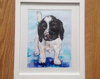 Personalised pet portrait painting
