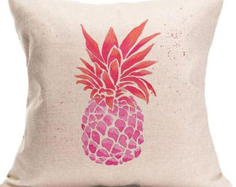 Pink Pineapple Pillow Cover