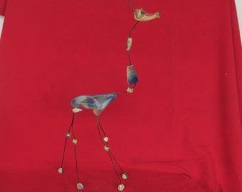 très grande céramique ancienne, girafe d' Accolay, ... 50 cm de haut, very large old ceramics, giraffe of Accolay, ... 50 cm high,