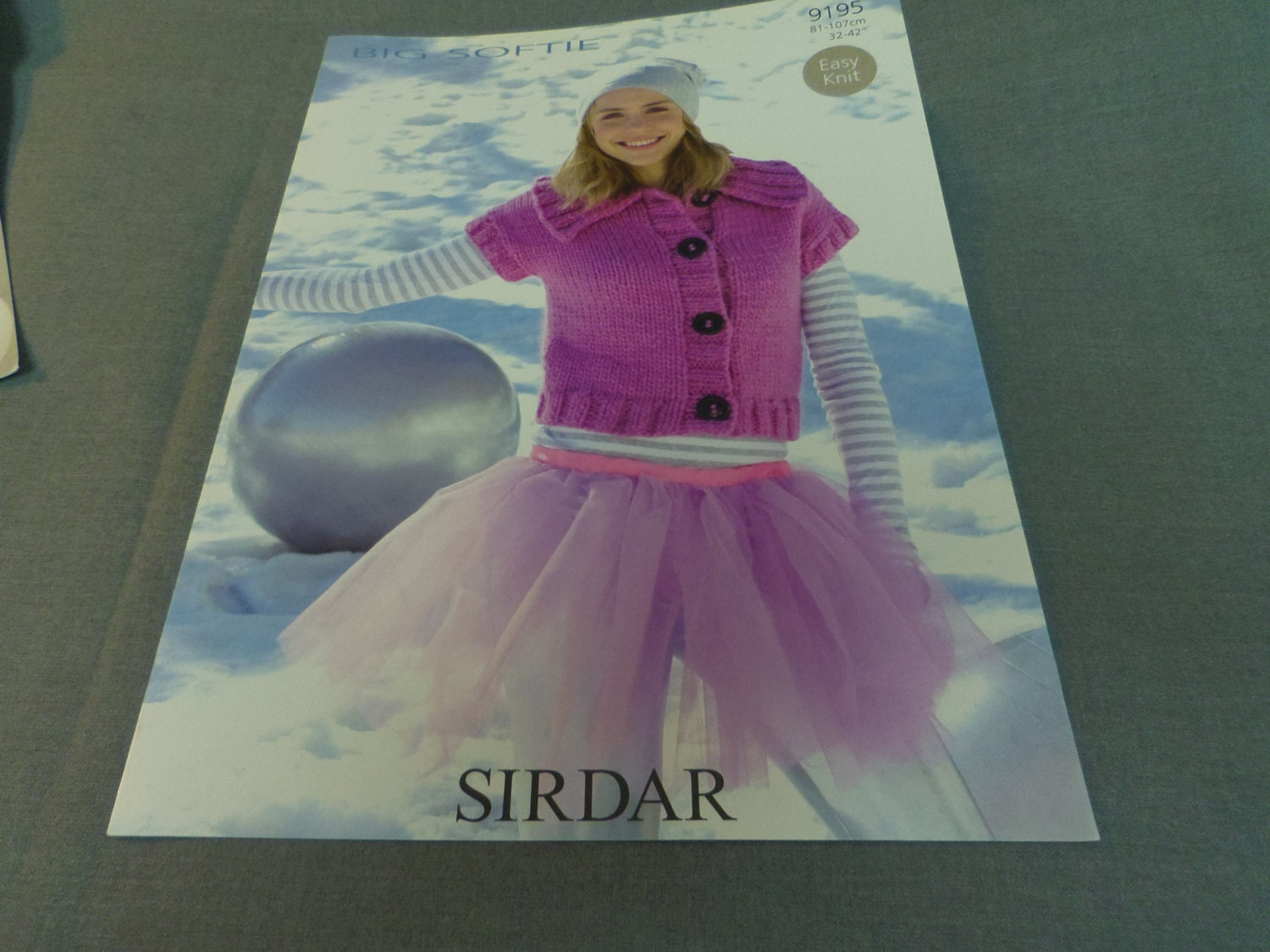 Knitting Pattern, Easy Knit Sirdar Jacket Sweater Adult Size 10 to ...