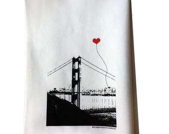 San Francisco Lover's Cotton Floursack Tea Towel