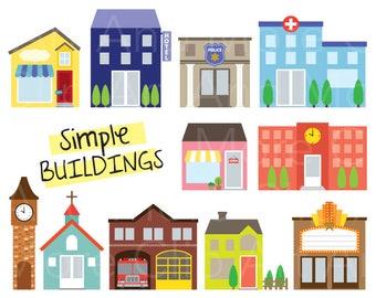 building clipart etsy rh etsy com buildings clip art black and white buildings clip art black and white