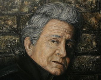 Original Oil Portrait - Johnny Cash