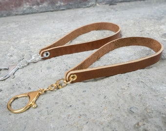Recycled Leather Keychain
