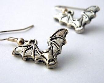 Bat Earrings Silver Color Dangle Earrings