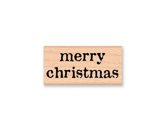 merry christmas Stamp and happy NEW YEAR stamp~two different stamps with matching font~holiday greeting~Wood Mounted  (33-40mc)(33-42ny)