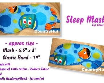 GUMBY and POKEY / Sleep Mask  / travel mask sleeping eye cover -