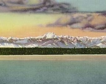 Olympic Mountains from Puget Sound (Art Prints available in multiple sizes)